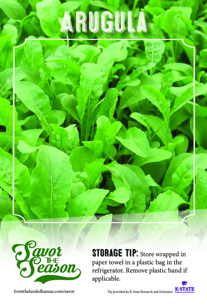arugula-Storage Tip