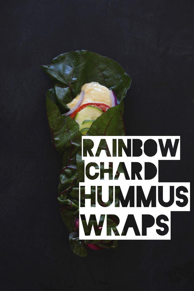 Rainbow-Chard-Hummus-Wraps